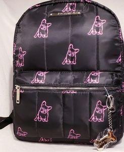New Betsey Johnson French Bulldog Backpack